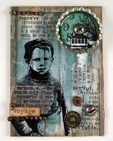 Happy Friday! I am back sharing my Masculine ATC's today... I used a mix of pattern papers and my Artistic Outpost stamps to mix up a series...