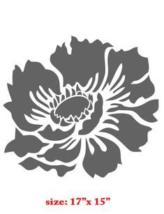 Flower Stencils | Flower Garden Designer Wall Stencil Home Kids Decor from Stencil ...