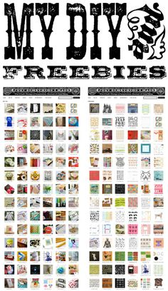 Freebies and Projects -- from Cathe Holden: http://justsomethingimade.com/freebies/