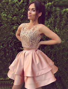 May 2020 - Prom Dresses Pink, Prom Dresses Two Piece, Prom Dresses Lace, Homecoming Dresses Short Homecoming Dresses 2018 Junior Homecoming Dresses, Two Piece Homecoming Dress, Prom Dresses Two Piece, Prom Dresses 2018, Prom Party Dresses, Dress Prom, Mini Dresses, Dress Formal, Party Gowns