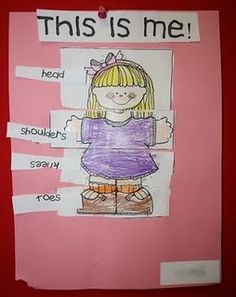 Use a real full body photo of the child, not a worksheet, to make this concrete. Head, Shoulders, Knees and Toes