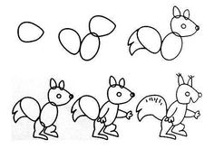 Easy Way How to Draw Sketches of Animal figures Step by Step for Kids ~ Creativehozz About Home Decorating Design, Entertainment, Kids, Creative Ideas, Crafts Easy Animal Drawings, Fish Drawings, Animal Sketches, Love Drawings, Drawing Sketches, Drawing Skills, Drawing Lessons, Easy Fish Drawing, Tier Doodles