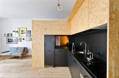 Kitchenette at Brandburg Studio's Poznan office/living space