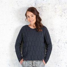 Danish knitting design. Yarn from Isager. Black ice - by Annette Danielsen