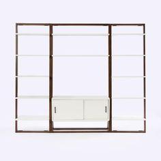 Ladder Shelf Media Console + Shelves Set - Wide