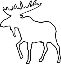 Deer Line Drawing Clipart - Free to use Clip Art Resource