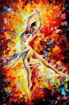 """Candle Fire"" by Leonid Afremov - Ballet, балет, Ballerina, Балерина, Dancer, Danse, Танцуйте, Dancing"