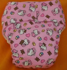 AIO All in One Adult Baby Reusable Cloth Diaper s M L XL Hello Kitty Baby Pink | eBay
