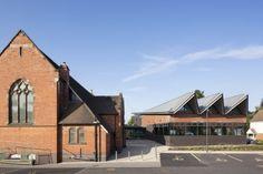 Monyhull Church - Annex, Birmingham (UK) by D5 Architects, Birmingham  #QuartzZinc #UK #UnitecKingdom #Church #Zinc #VMZINC #Architecture #Project #Roofing
