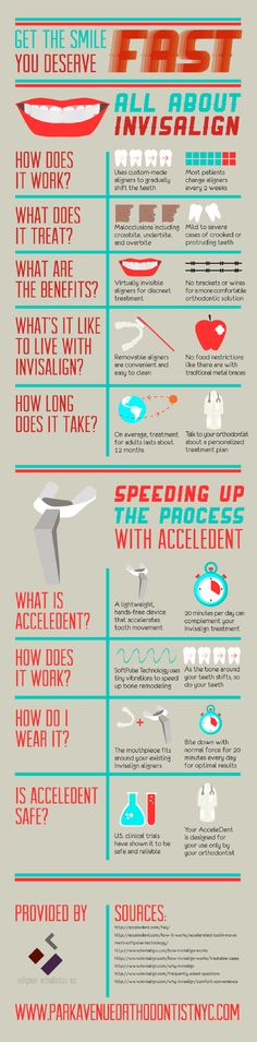 AcceleDent uses SoftPulse Technology featuring tiny vibrations that speed up bone remodeling. As the bone around your teeth shifts, so do your teeth! Take a closer look at the reasons to use AcceleDent alongside your treatment by clicking over to this Park Avenue orthodontist infographic.