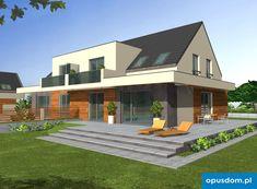 Karmel BL - wygodny dom w zabudowie bliźniaczej z oferty opusdom. Home Fashion, How To Plan, Mansions, House Styles, Houses, Home Decor, Homes, Decoration Home, Manor Houses