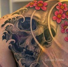 Sullen Clothing T-Shirt-Holmes Scales tatouage type skull tete de mort Snake