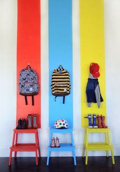 painted Ikea Bekvam stools