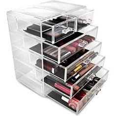 Generic Acrylic Jewelry Cosmetic Storage Display Box 9 38 x 5