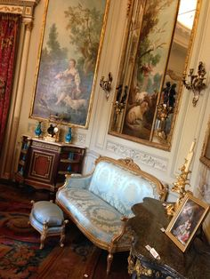 Musee Nissim de Camondo, Paris - LOVE the painted panels!!