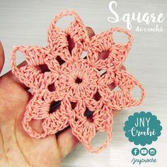 Square de crochê fácil e rápido de fazer. 😍  O passo a passo em vídeo você encontra no nosso canal 👉 https://youtu.be/OnYcx8Fg_58 😃 O que achou?     #croche  #crochê #jnycroche #canaljnycroche #canalcrochedaju #crochet #croché #crochetandocomeuroroma #artecomeuroroma #barbantesecologicos #euroroma #euroromapassione #square #squaredecroche #sitejnycroche #videoaulascroche #amocrochetar #DIY