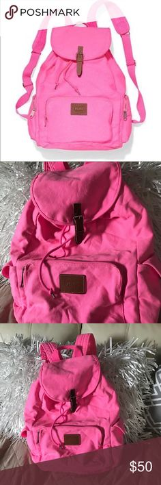 Vs pink backpack Very beautiful color from victoria secret! Never used it! It's been in my closet so its in like new condition (: PINK Victoria's Secret Bags Backpacks