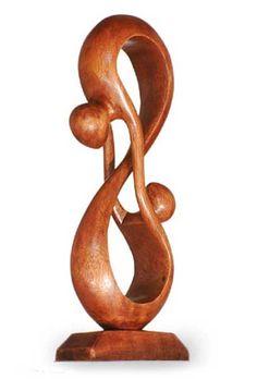 Wood Romantic Sculpture at NOVICA