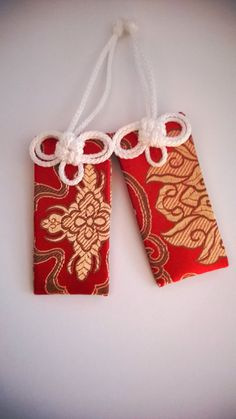 Red Brocade Buddhist Omamori Protective Charms by UrbanPrajna, $7.00