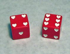 White Hearts Dice