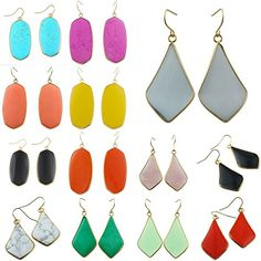 SUNYIK Womens Gemstone Stone Quartz Oval/Teardrop Dangle Hook Earrings coupon  Turquoise coupon