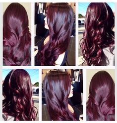 225207ebf3293b3078eeead820c273be.jpg 640×672 pixels Wine Hair, Aubergine Hair Color, Eggplant Hair, Red Violet Hair, Dark Red Hair, Burgundy Hair, Purple Hair, Violet Hair Colors, Dyed Hair