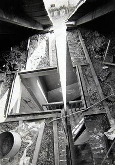 "alecshao:  Gordon Matta-Clark- Splitting (1974) ""Compelled to focus attention on the dehumanization of the modern world, Matta-Clark develo..."