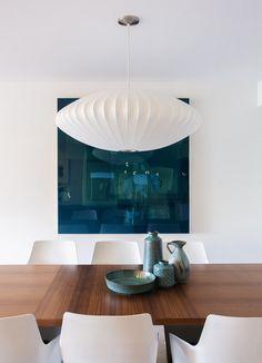 photo by: john bentley | George Nelson Bubble Lamp Saucer Pendant Lamp | http://modernica.net/saucer-lamp.html
