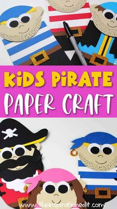 Learn how to make these easy paper bag pirate puppets from the Inspiration Edit! These paper bag puppets are so easy to make and your kids will love making them. They will want to play with them for hours. Try this simple paper craft today. Summer Crafts For Kids, Easy Crafts For Kids, Art For Kids, Paper Crafts For Kids, Arts And Crafts, Paper Plate Crafts, Creative Kids, Creative Crafts, Art Projects For Teens