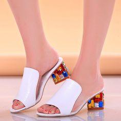 Verão sapatos chiques deslizar sobre sandálias plataforma sandálias de praia de…