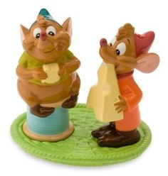 DISNEY'S Cinderella Mice GUS & JAQ Salt & Pepper Shakers