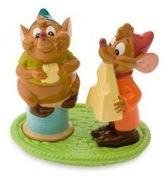 Disney Cinderella Mice Cheese Gus Jaq Salt Pepper Shakers Set Le 500 | eBay