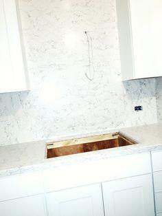White arabesque silestone quartz countertops