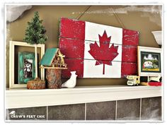 Patriotic projects for SNS 140 - Funky Junk Interiors Canada Day Crafts, Canada Day Party, Wood Crafts, Diy Crafts, Canada Holiday, Happy Canada Day, Funky Junk Interiors, Pallet Art, Pallet Flag