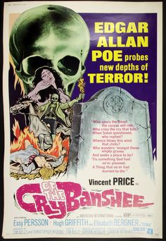 vincent price movies posters   1970 Cry of the Banshee Original 40x60 Movie Poster (MEARS LOA) Edgar ...
