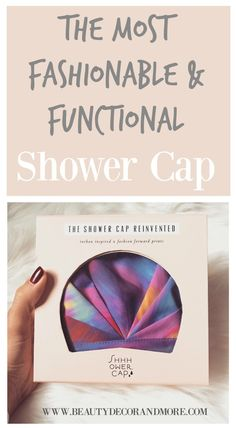 This is The Most Fashionable & Functional Shower Cap!  This shower cap is perfect for extending your blow outs and other hair styles.  Its also perfect for keeping your hair frizz free and completely dry in the shower.  It is machine washable and the design is beautiful! | SHHHowercap