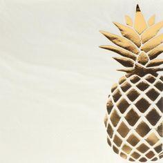 Tropical Foil Pineapple Tableware Napkins