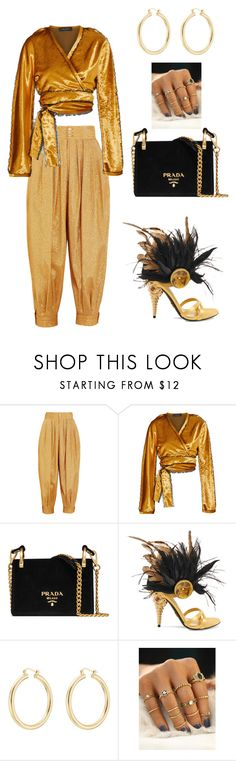 """Golden Girl"" by ladytre1980 ❤ liked on Polyvore featuring Gucci, Sid Neigum, Prada and Isabel Marant"