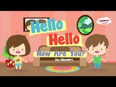 Hello Song for Children - Kindergarten and Preschool Song - by ELF Learning - YouTube