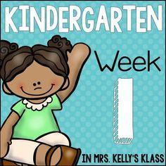 Mrs. Kelly's Klass: First Week of Kindergarten