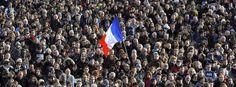 Trauermarsch in Rennes, Frankreich, am 11. Januar 2015