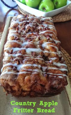 Awesome Country Apple Fritter Bread! Will use while wheat flour and coconut sugar and molassas