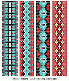 Loom Beading Patterns | hatband-loom-beadwork-020
