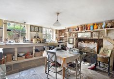 The mansion has kept some of its original features after more than two centuries. The kitchen, for example, still has its 18th-century cast iron cooker.