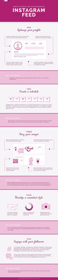 One of my favorite infographics to help you create that gorgeous Instagram feed: