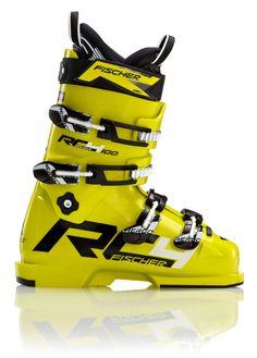 Esta botas de esquiar son amarila la y negra. Quiero esta botas de esquiar para esquio. Esta botas son perfecto para los pies, y el pie hace calor. Son bonitas. Ski Boots, Black N Yellow, Golf Bags, Fisher, Skiing, The 100, Youth, Pie, Sneakers