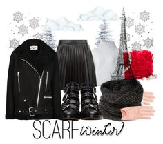 """""""scarf winter in Paris"""" by fifi-maz ❤ liked on Polyvore featuring Miu Miu, Le Kasha, New Look, Lafayette 148 New York, Givenchy, Acne Studios and scarf"""