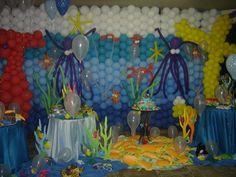 Festa de Théo 2 anos - Fundo do mar.
