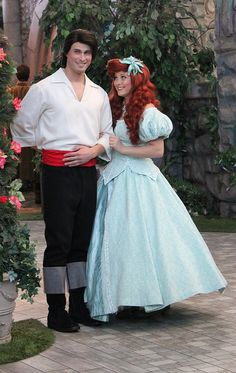 Ariel and Prince Eric in Disneyland