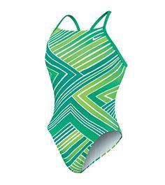 Nike Swim Zig Zag Cut Out Tank